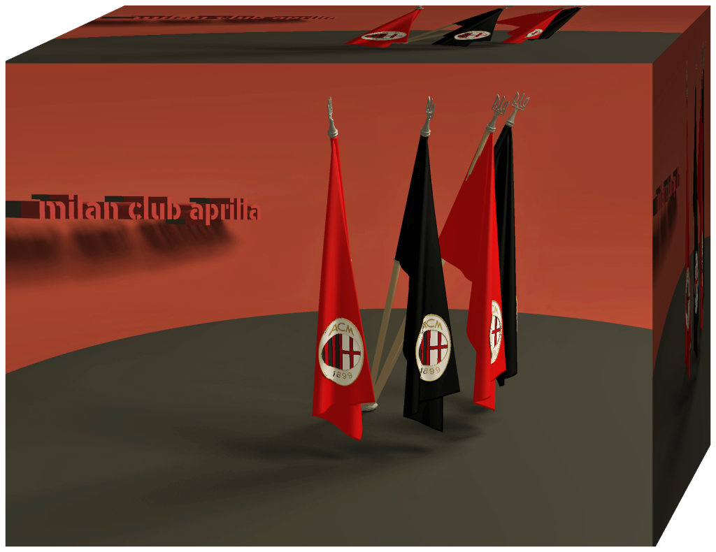 Flag box 3d Milan Club Aprilia