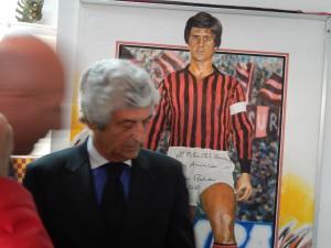 2016 GIANNI RIVERA VIENE AL MILAN CLUB BENEVENTO -Aprile2016 - per autografare un suo quadro disegnato a mano nel 1988 GIORNATA storica!!!