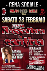 Cena Sociale 2014-2015 - Cantina - Festa Rossonera