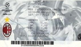 Milan-Ajax  3-2 23/04/03 ..e fu Champions  contro la Juve!!