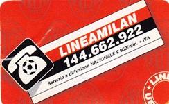 Tessera telefono linea Milan