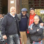 In via Turati con  Ibrahim Ba