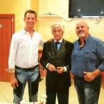 Rivera con il presidente milan club Margherita e milan club Bisceglie