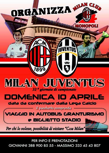 Locandina Milan-Juve