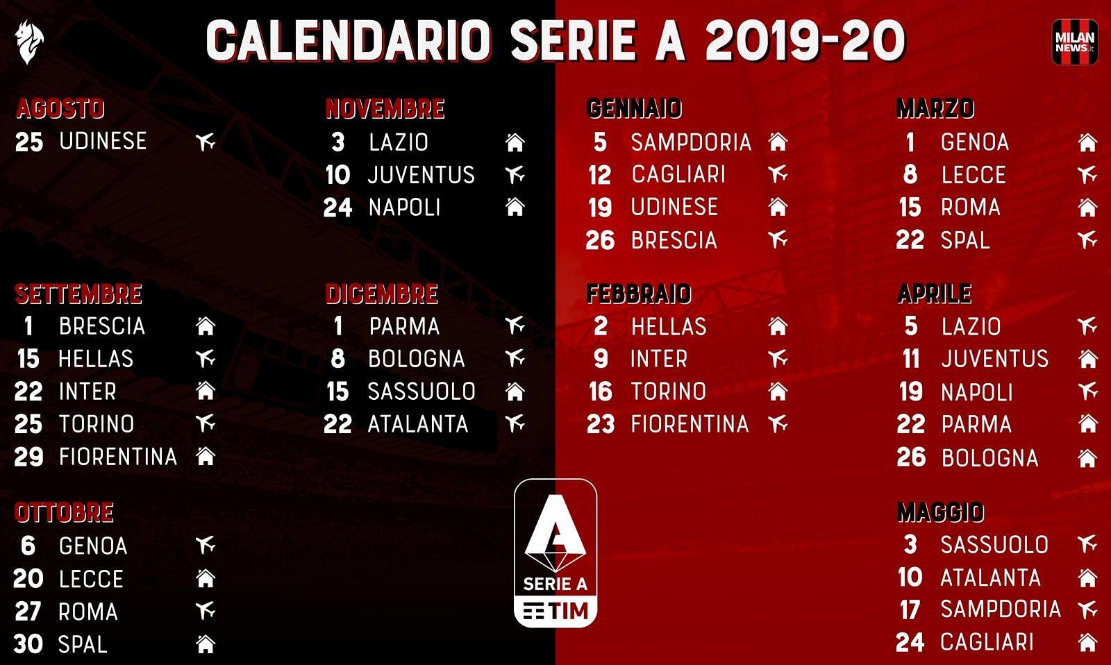 Calendario Maggio 2020.Milan Club Calendario 2019 2020 Palmi Mimmo Albergati