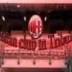 Milan club in Tribuna , Milan – Roma.