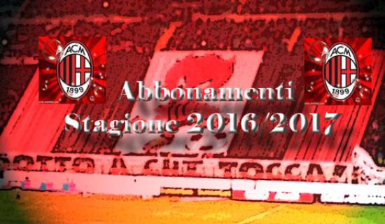 ABBONAMENTI STADIO STAGIONE 2016/2017