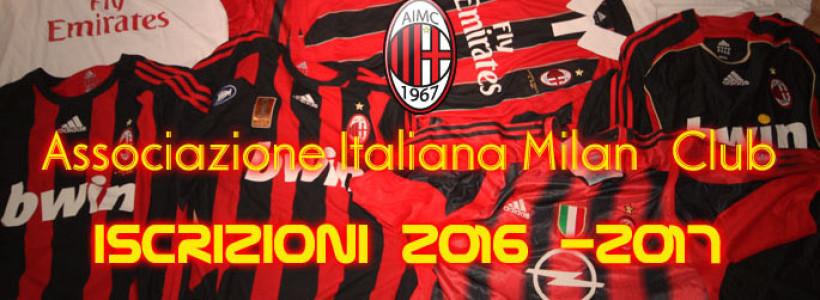 AIMC Iscrizioni 2016/2017….Sempre uniti,  per la maglia e per i colori!