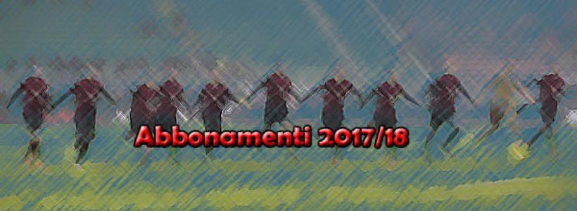 Campagna Abbonamenti Stagione 2017/2018 , Prelazione Ordinaria.