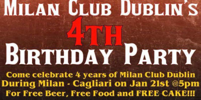 Milan Club Dublin festeggia il compleanno