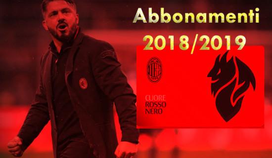 Campagna abbonamenti stadio 2018/2019