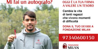 Il tuo 5xmille a Fondazione Milan.