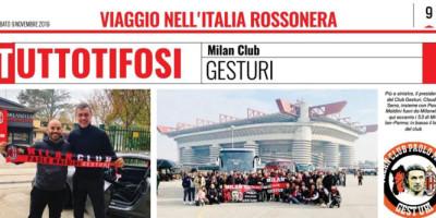 "Il Milan Club Gesturi su ""Tuttosport"""