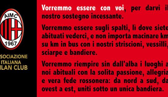 Milan-Juve… Vorremmo essere con voi…